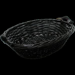 zwarte rieten cadeaumand